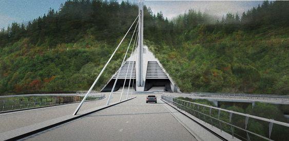 Tunnelportal for en framtidig Byåsentunnel inngår i plan- og designkonkurransen.