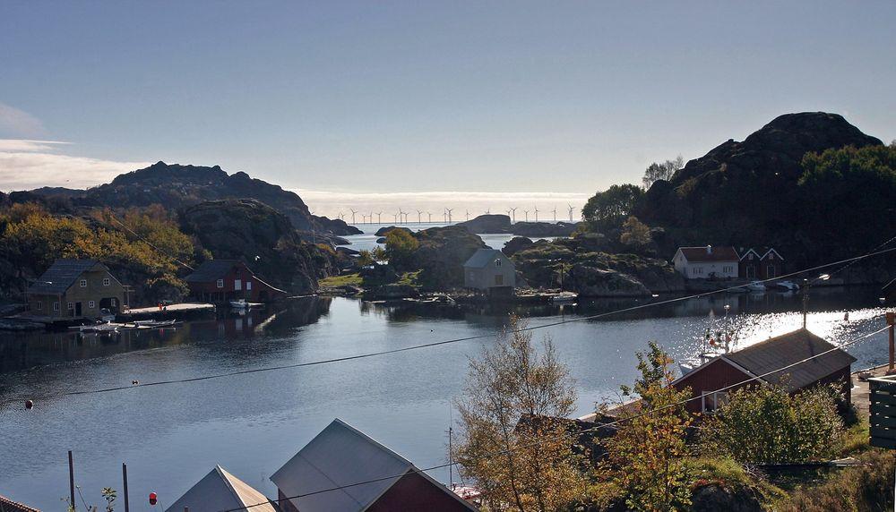 Utbyggingen: Slik ser selskapet bak utbyggingen at Siragrunnen havvindpark skal se ut.