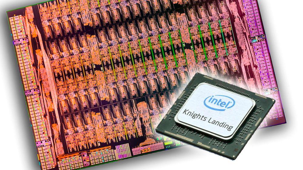 Intels nye Knights Landing-prosessorer skal triple enkelttrådytelsen sammenliknet med dagens generasjon (bak), og det med lavere strømforbruk.