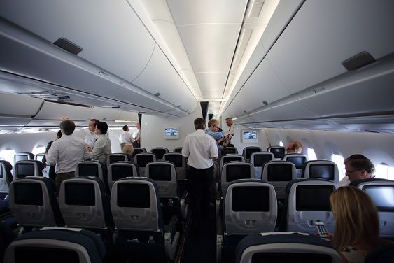 Slik ser økonomiklassen ut i A350 XWB MSN-2.