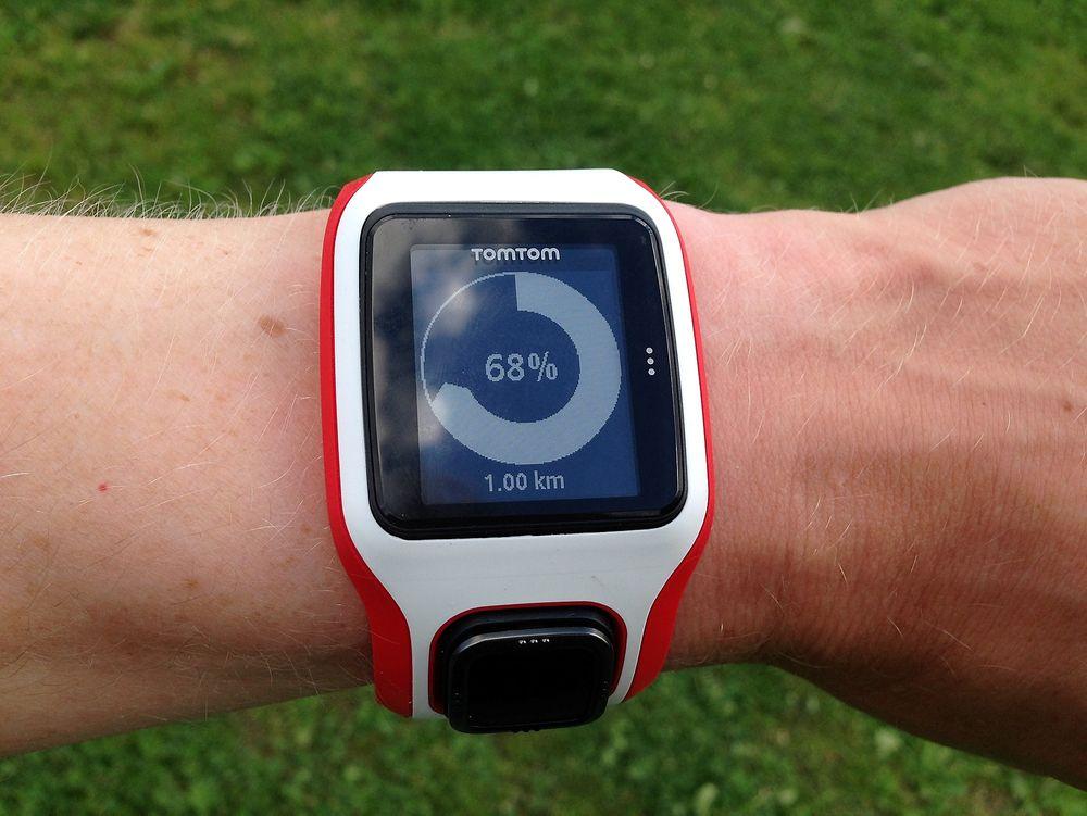 TomTom-klokka har et fint og enkelt brukergrensesnitt.