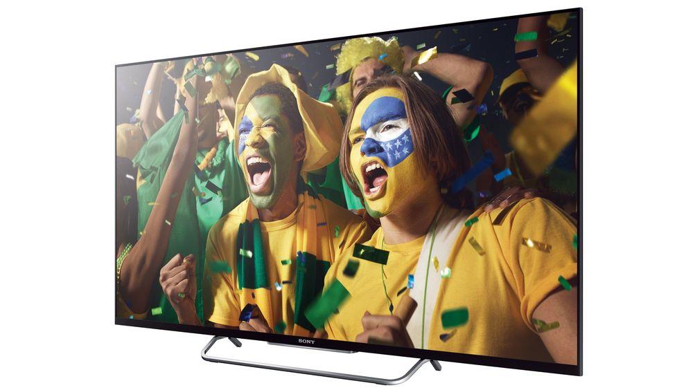 Ny TV til VM? Sony KDL-50W805B har tynne rammer og et flott bilde.