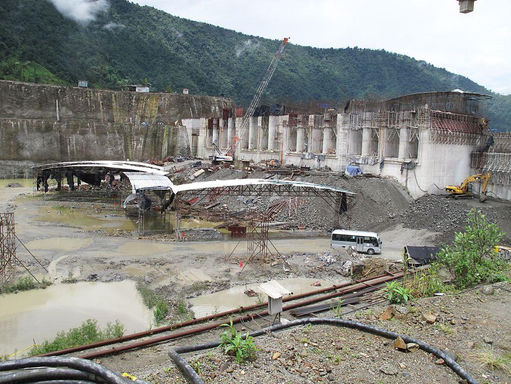 Sandfang: Slik skal de gigantiske sandfangene bygges til kraftverket Coca Codo Sinclair i Ecuador.