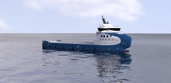 Intensjon: Nordic American Offshore har et par måneder på seg til å bekrefte bestillingen av to PSV-erer fra Vard Aukra med Vard 1 08 design.
