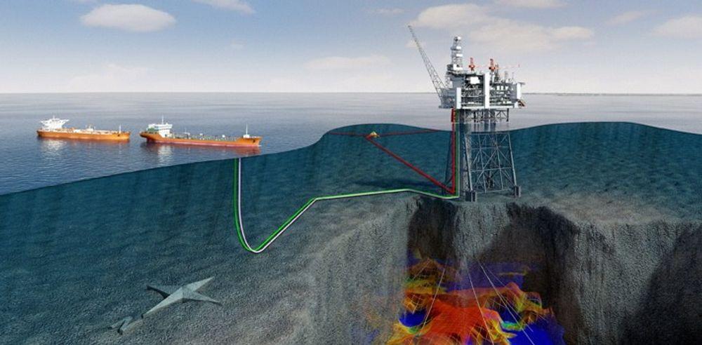 STORT: Mariner-feltet ble funnet i 1981, men har ennå ikke blitt bygd ut. Det inneholder omtrent 250 millioner fat olje. Statoil er operatør.