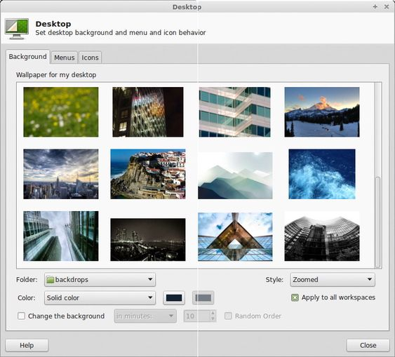 Grensesnittet kan skreddersys, blant annet gjennom temaer og bakgrunnsbilder.