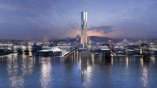 Burj Khalifa-arkitektene skal tegne det som blir Nordens høyeste bygg