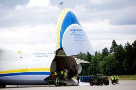 An-225 ble brukt til å frakte militært utstyr hjem fra Afghanistan i 2014.