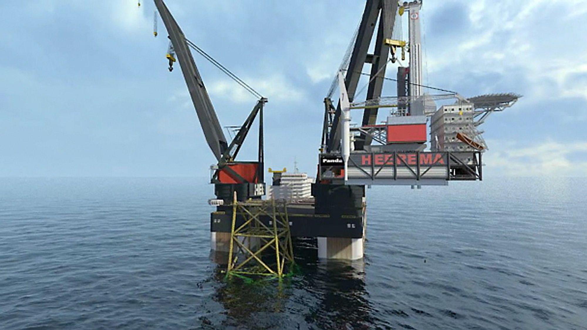 Statoil har vist frem nye og mer utviklede skisser av sin subsea on slim legs-løsning.