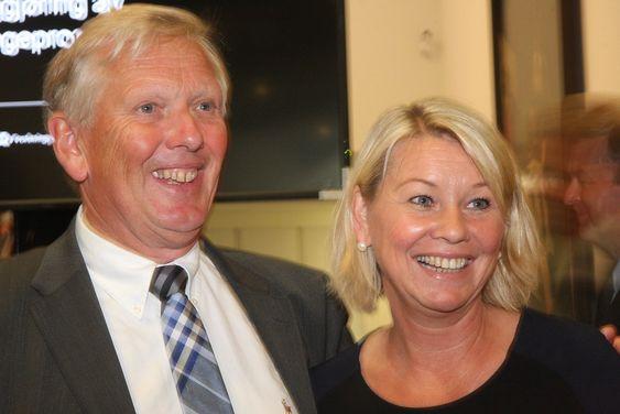 Maritim verdensherredømme: Leder Per Erik Dalen i GCE Blue Maritim og næringsminister Monica Mæland.
