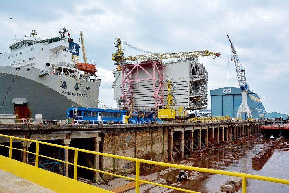 Økt utvinning: Kompressormodulen M11 kom til Aibel i Haugesund 17. mai, etter å ha vært en måned på reise fra verftet i Thailand, hvor den ble bygget. I begynnelsen av juni drar den til Nordsjøen, for å øke utvinningen av gass på Troll A.