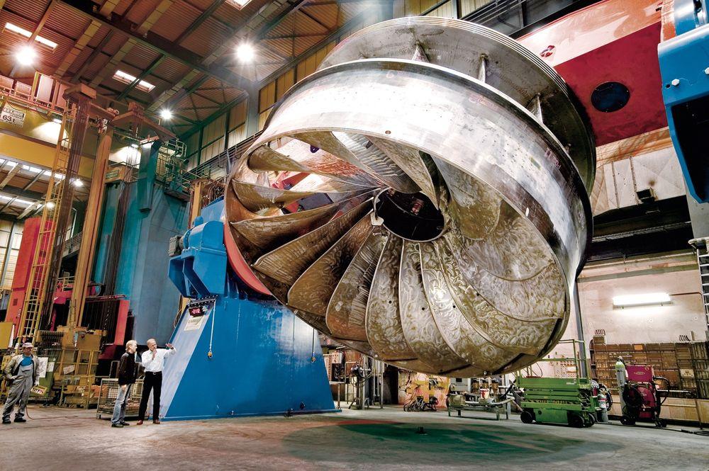 Nok en gang har Statkraft fått problemer med en av sine høytrykks francisturbiner, denne gangen lpå en turbin levert av Andritz. Bildet er tatt ved en tidligere anledning av en annen francisturbin fra Andritz.