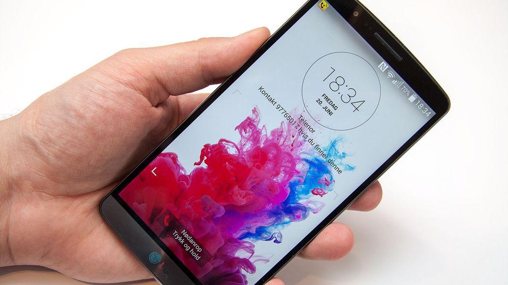 LG G3 blir trolig en av de første smarttelefonene med Android 5.0 Lollipop.
