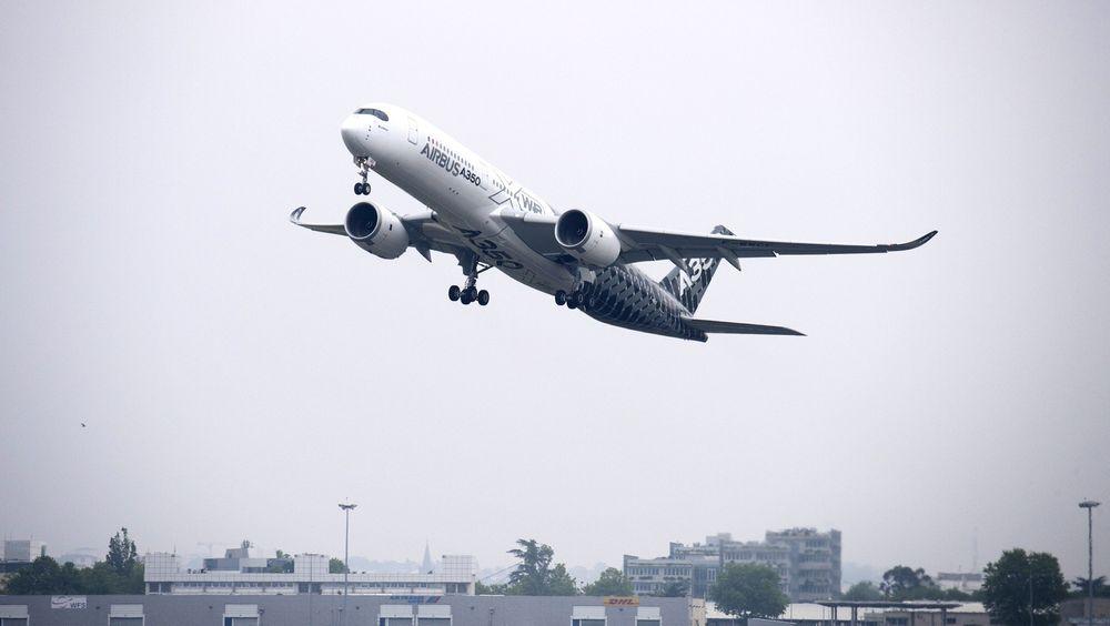 MSN-2 tar av fra Toulouse på den første flygningen med fullt passasjerbelegg.