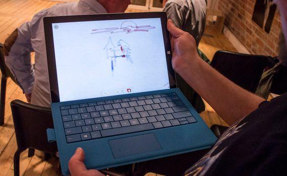 For kunstnere: Som alle nettbrett med penn kan man tegne på skjermen. Det er ikke noen stor kunst i dag. Det som kan blir det store med Pro 3 er evnen til å kjøre Photoshop på skjermen og bruke pennen til å redigere bilder. Slikt krever datakraft og det har dette.