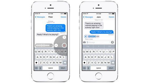I meldingsappen kan du nå blant annet sende lydklipp.