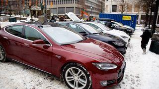 Nordmenn selger brukte Teslaer i Tyskland