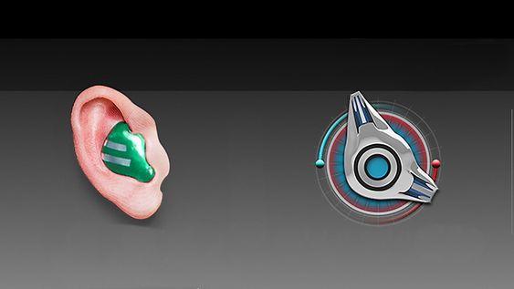 De kommende øreproppene ser nesten ut som et høreapparat.