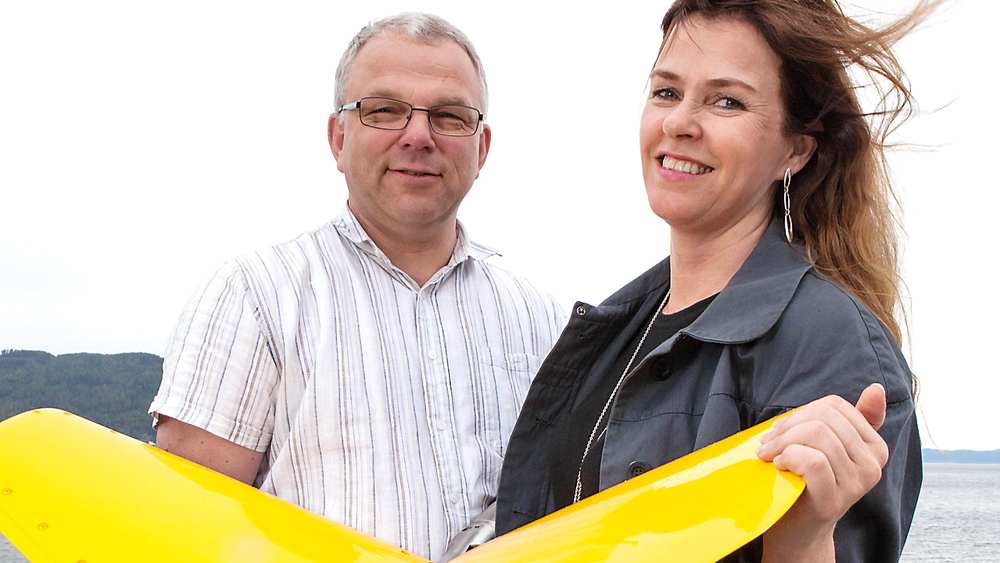 Ingeniør og designer: Arne Rinnan i Kongsberg Seatex og Lillian Olsen i Halogen jobber tett sammen. Blant annet bidro Halogen til å utvikle brukergrensesnittet for programvaren til eBird, et verktøy som styrer seismiske kabler.