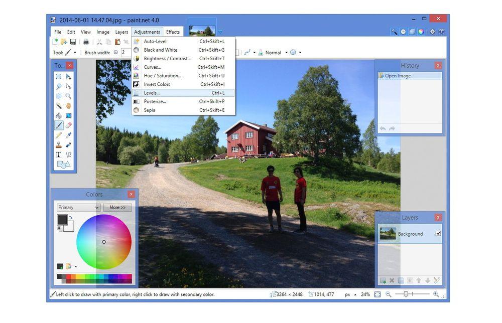 Paint.NET gir deg mye av funksjonaliteten fra Adobe Photoshop, men kan brukes helt gratis.