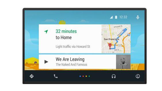 Android Auto har et eget biltilpasset grensesnitt.