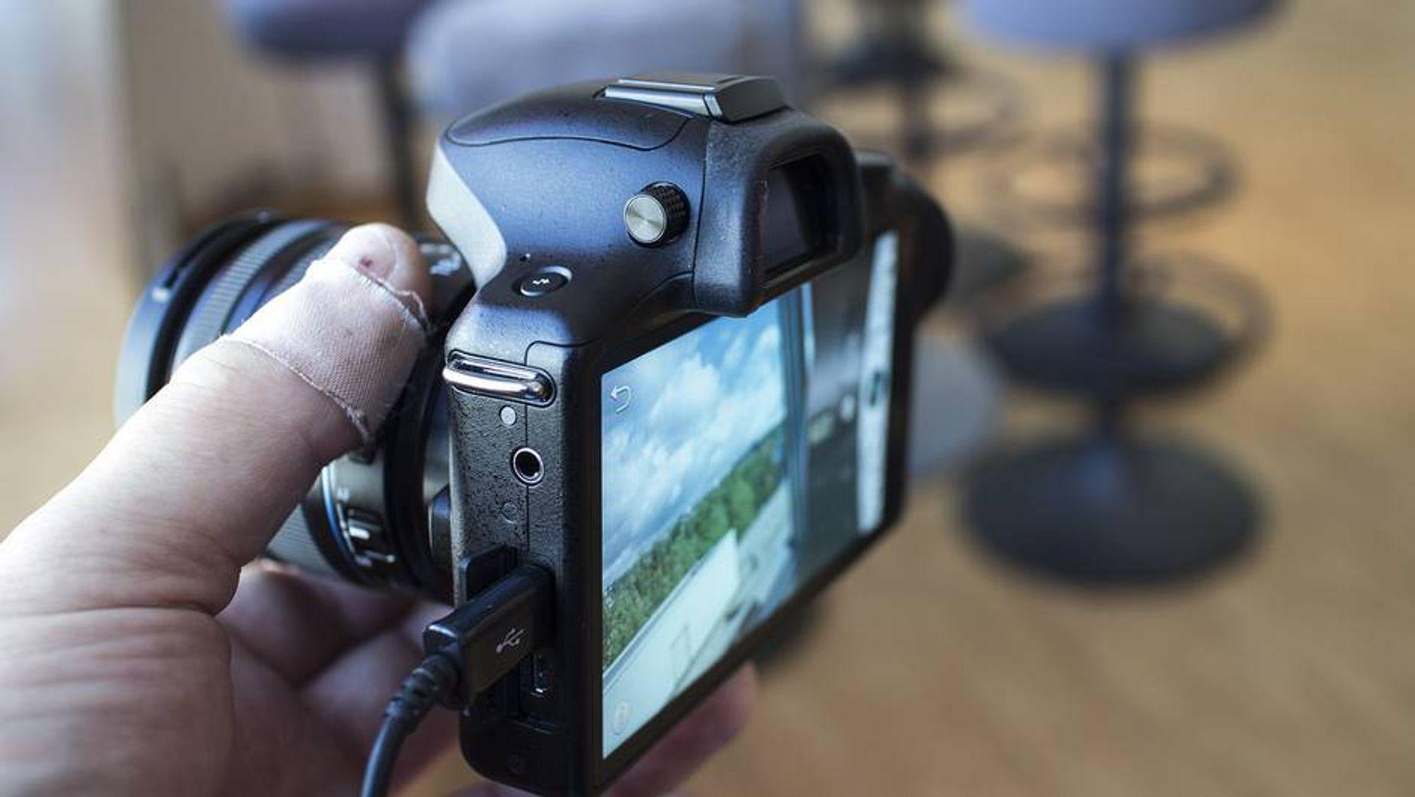 Kamera med smarttelefon