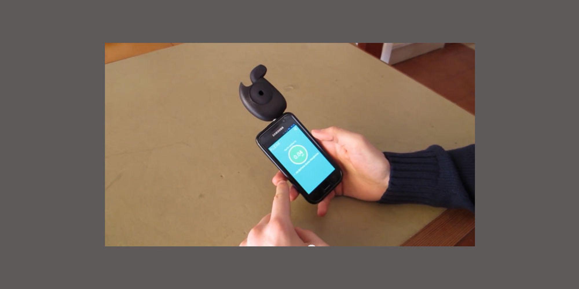 Mobilen kan bli promillekontroll