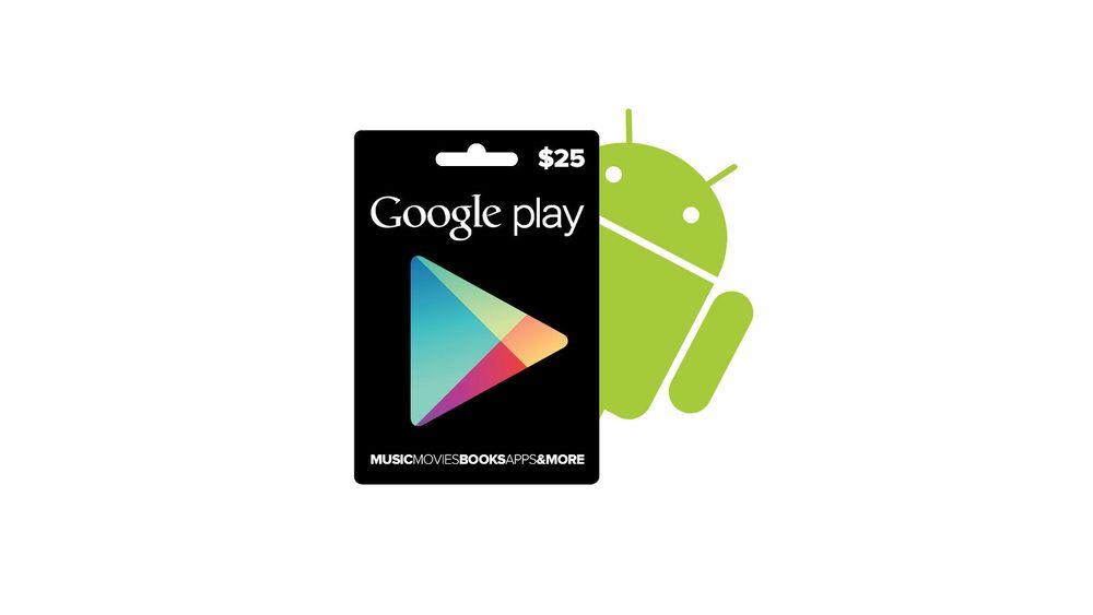 Lanserer Google Play-gavekort
