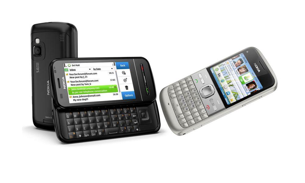 Unboxing av Nokia E5 og C6