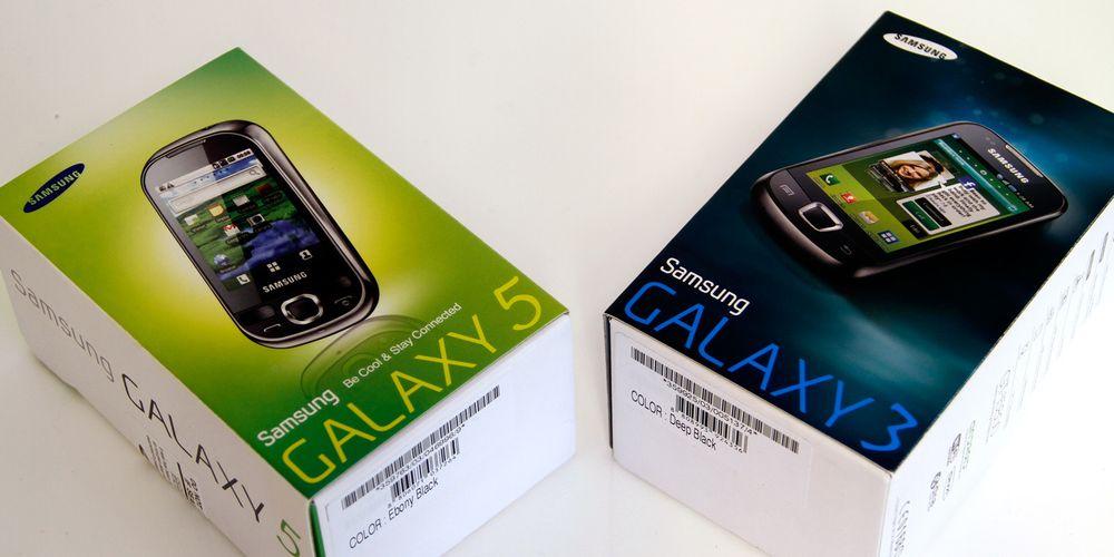 Unboxing: Samsung Galaxy 3 og Galaxy 5