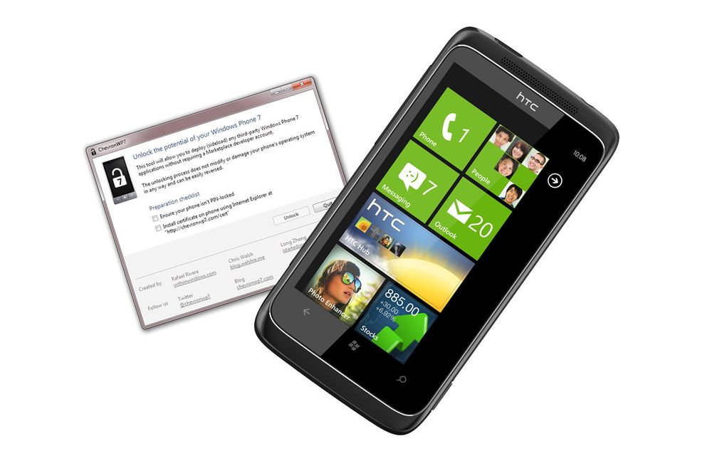 "Windows Phone 7 er ""jailbreaket"""