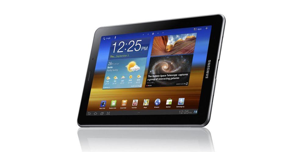Samsung Galaxy Tab 7.7 trukket fra IFA
