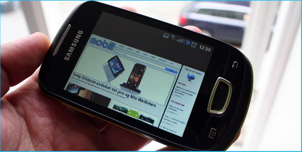 Test av Samsung S5570 Galaxy Mini