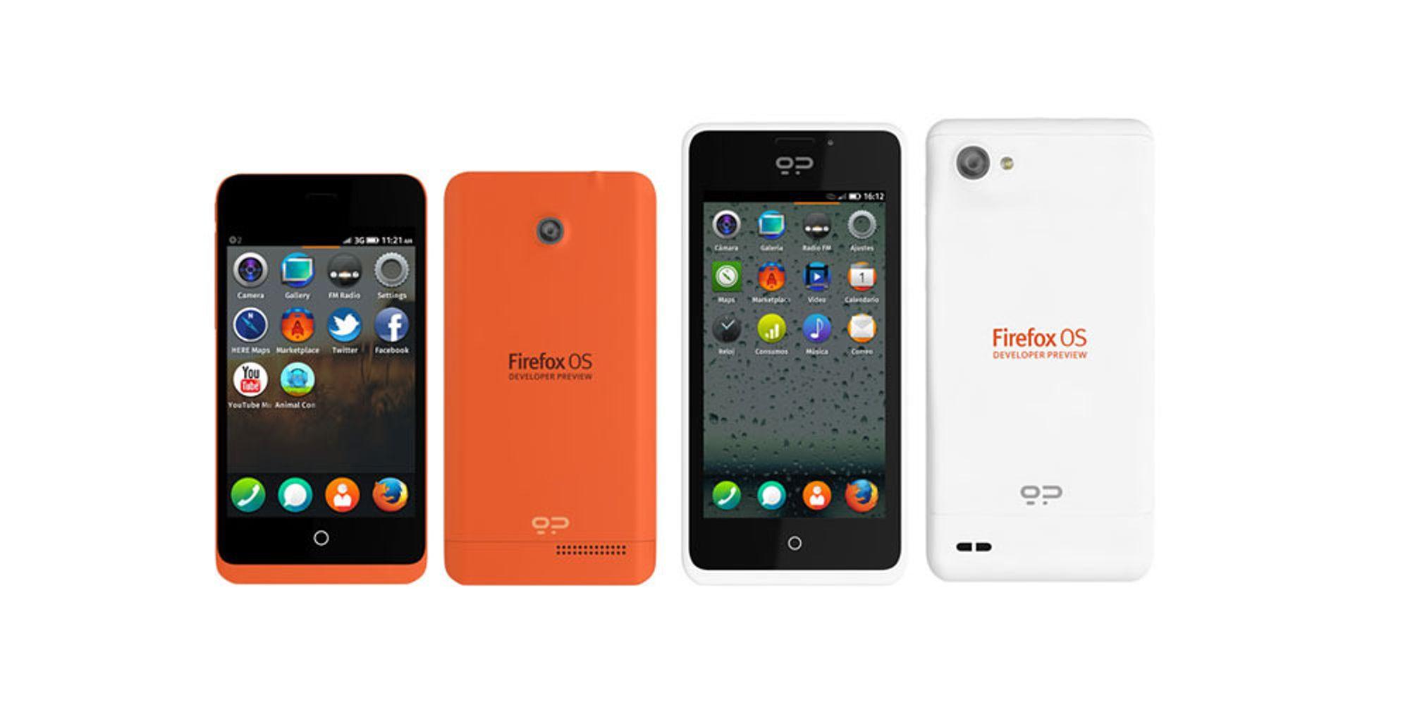 Her er de første Firefox-mobilene