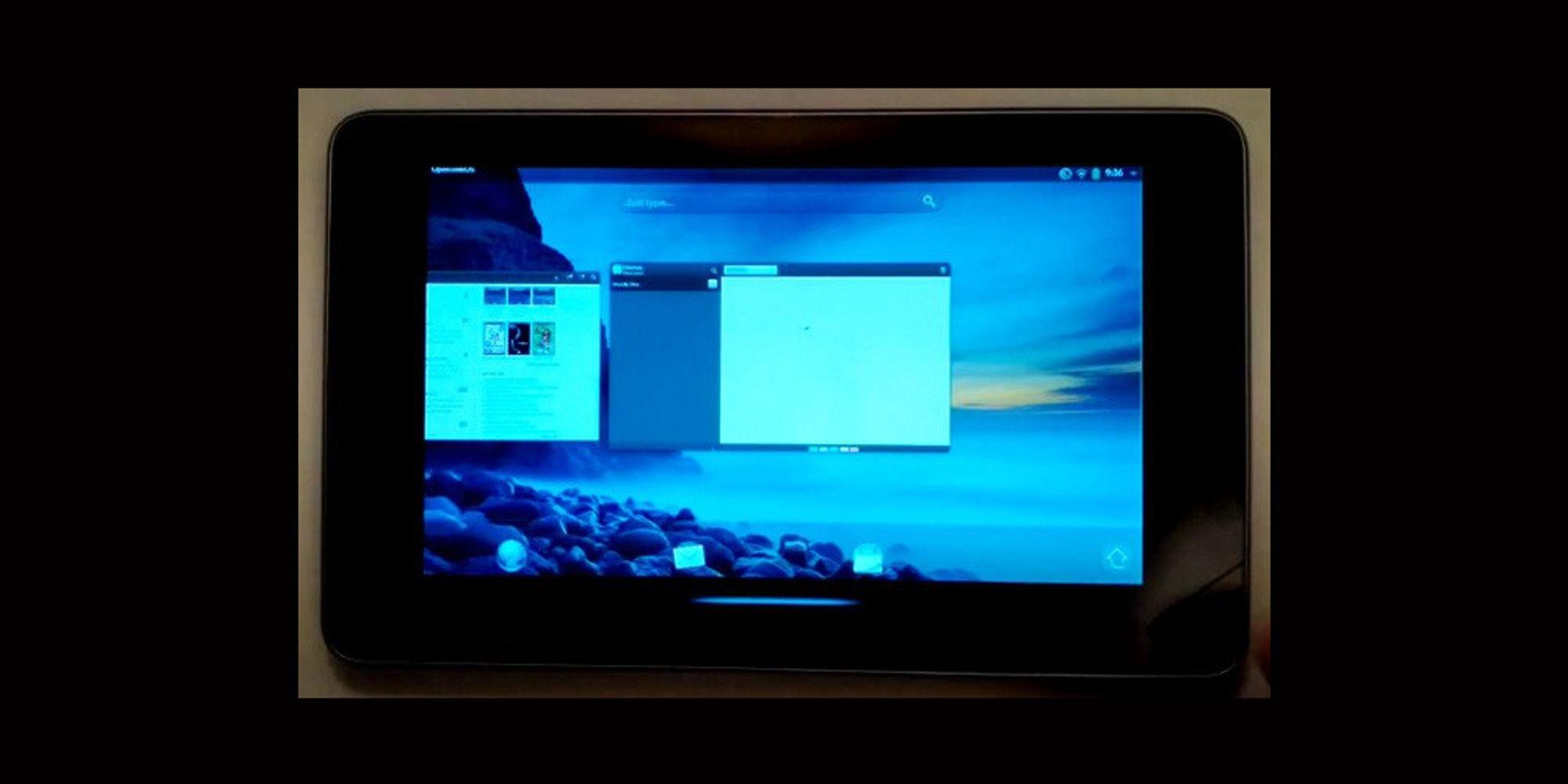 WebOS kjører på Nexus 7