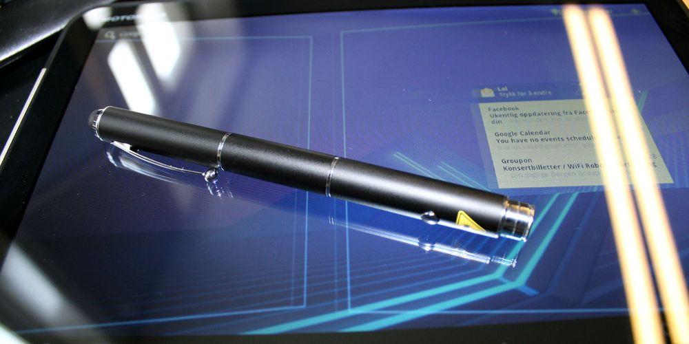En laserpenn til tableten din