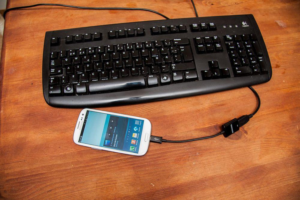 Denne gir Samsungen din mus og tastatur