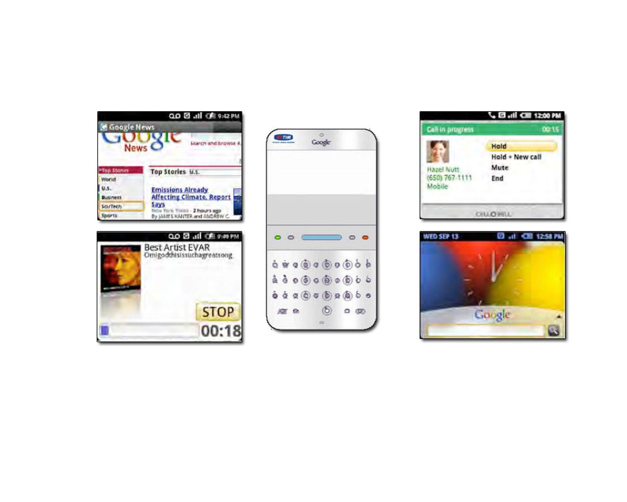 Slik så Android ut i 2007