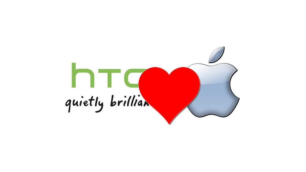 Apple og HTC tar hverandre i henda