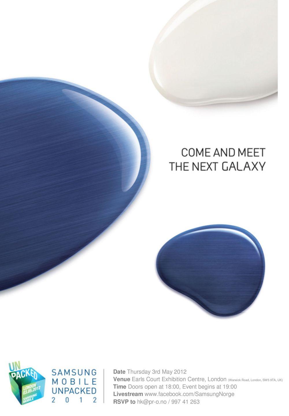 Samsung lanserer 3. mai