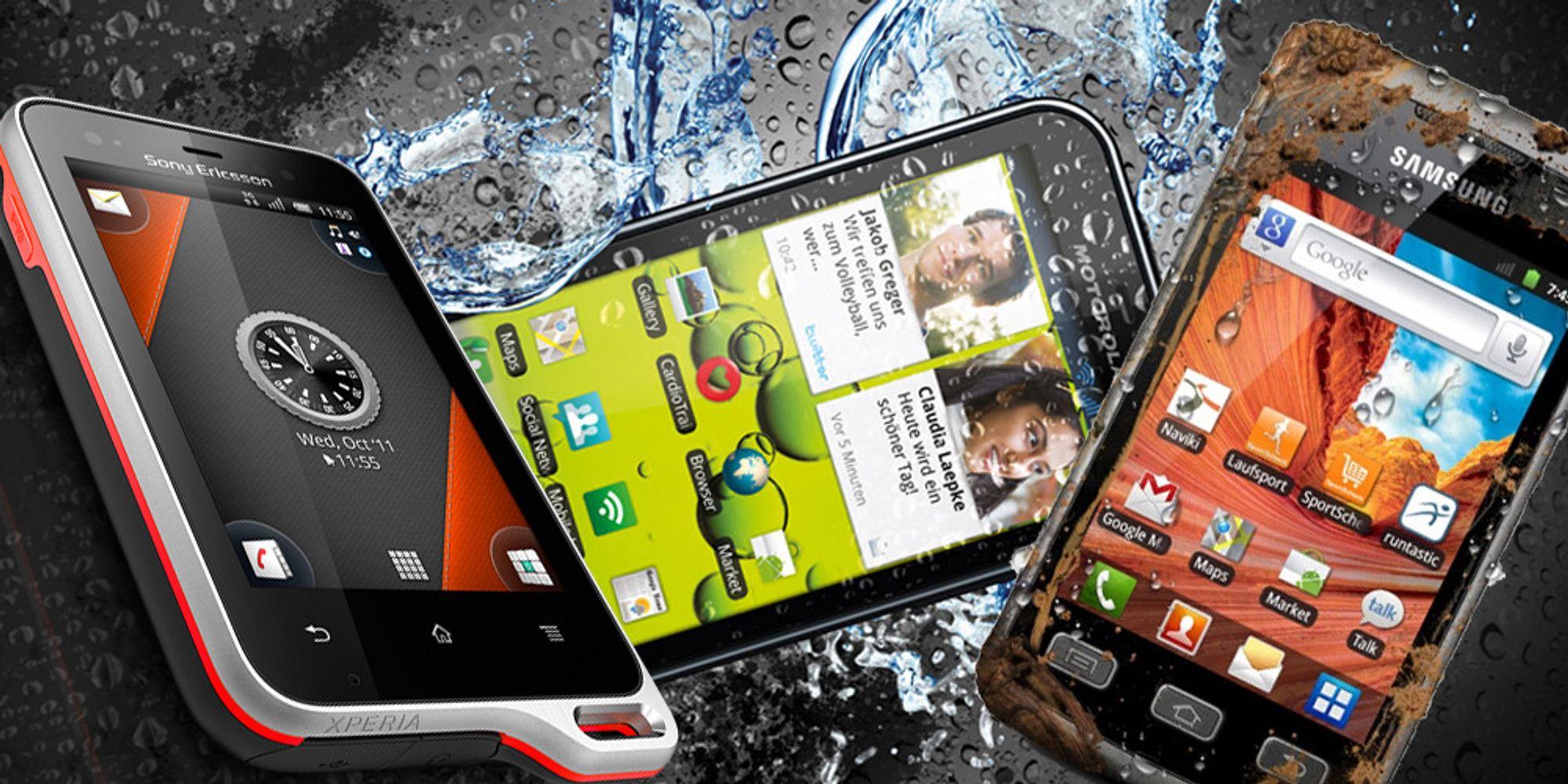 Smarttelefonene som tåler en støyt