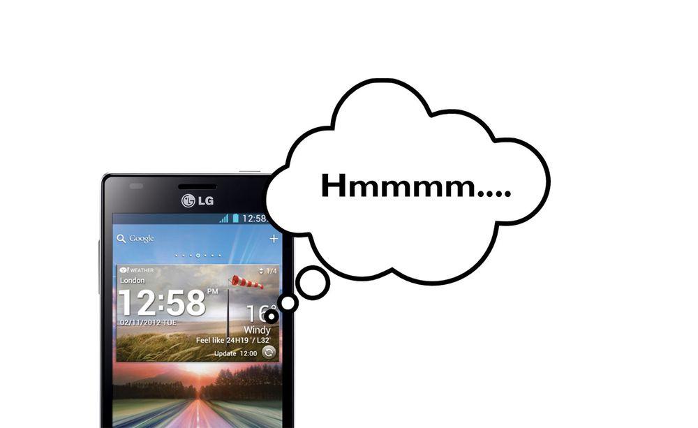 """LG lager """"tenkende smarttelefon"""""""