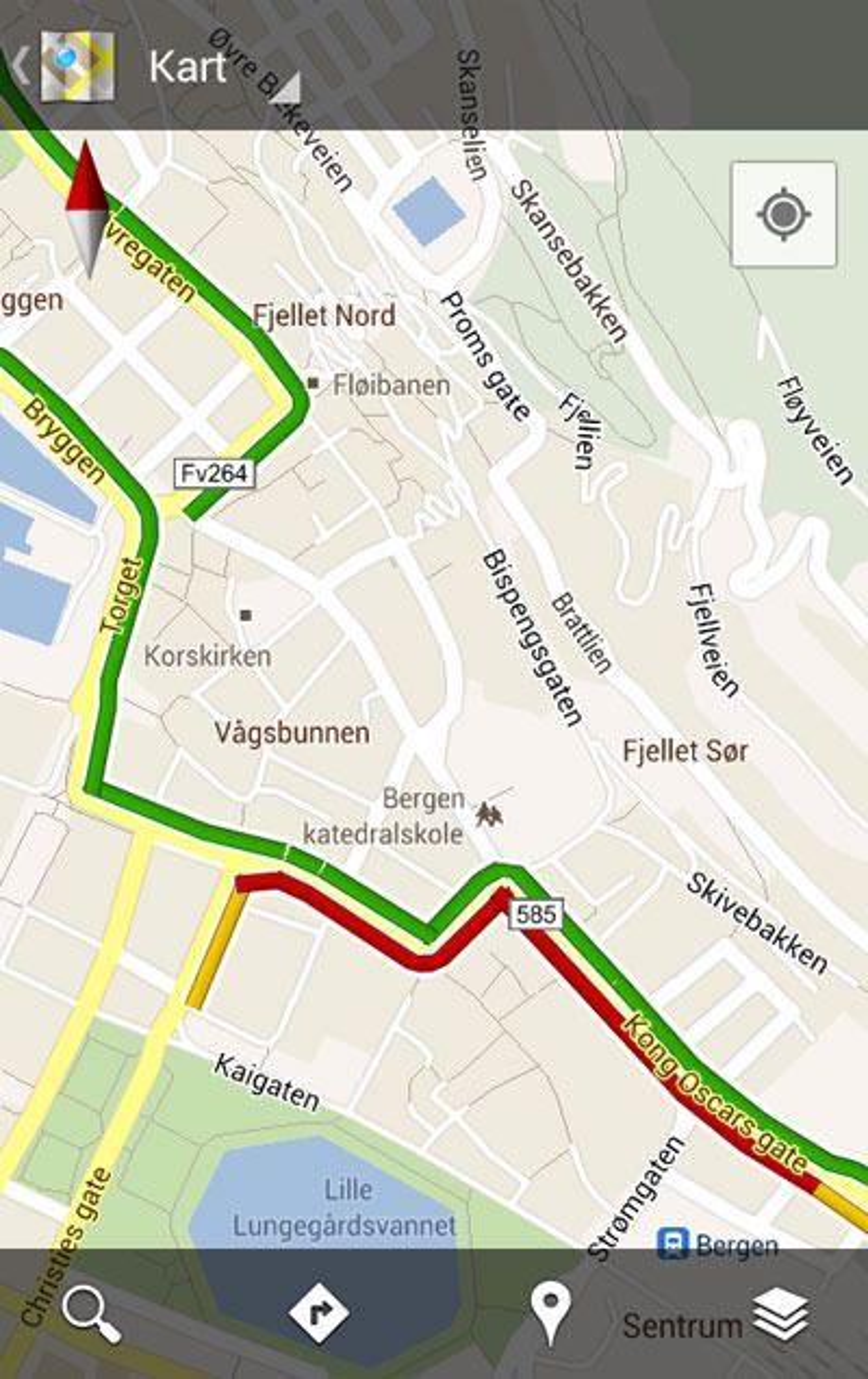 Se Hvor Lett Trafikken Glir Med Google Maps Tu No