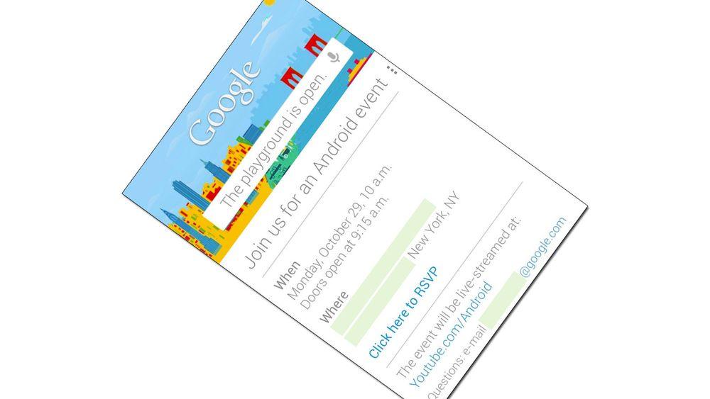 Google lanserer 29. oktober