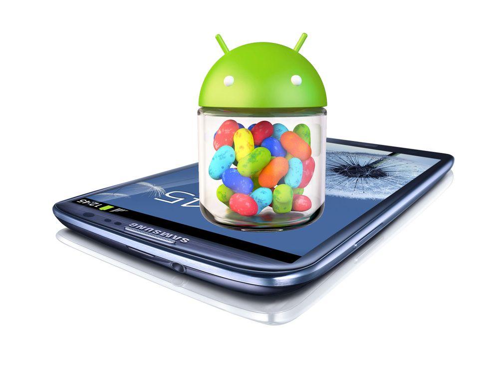 Ruller ut Jelly Bean til Galaxy S III