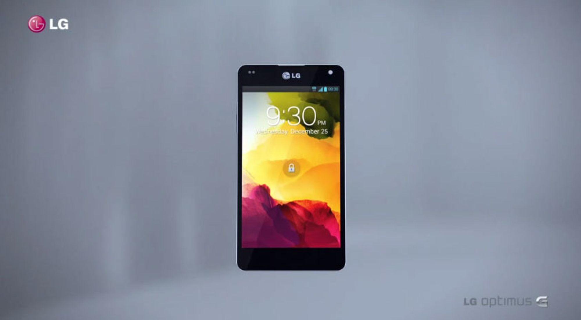 Skrytevideo av LGs nye Optimus G