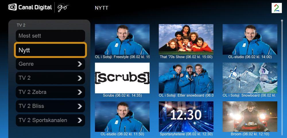 TV2 i arkivet: Parabolkundene til Canal Digital trenger ikke frykte å gå glipp av TV2s OL-sendinger. De vil ligge i arkivet i en uke.