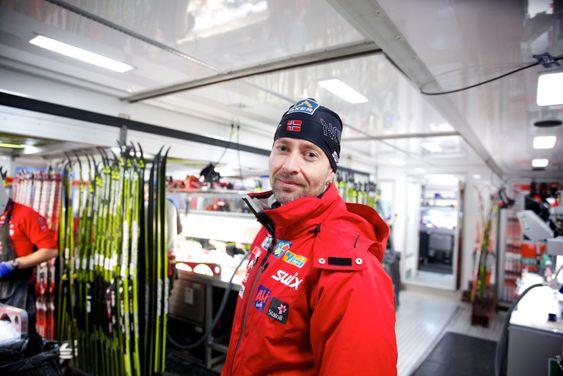 Norges nye smøretrailer. Knut Nystad, smøresjef. Foto: Eirik Helland Urke