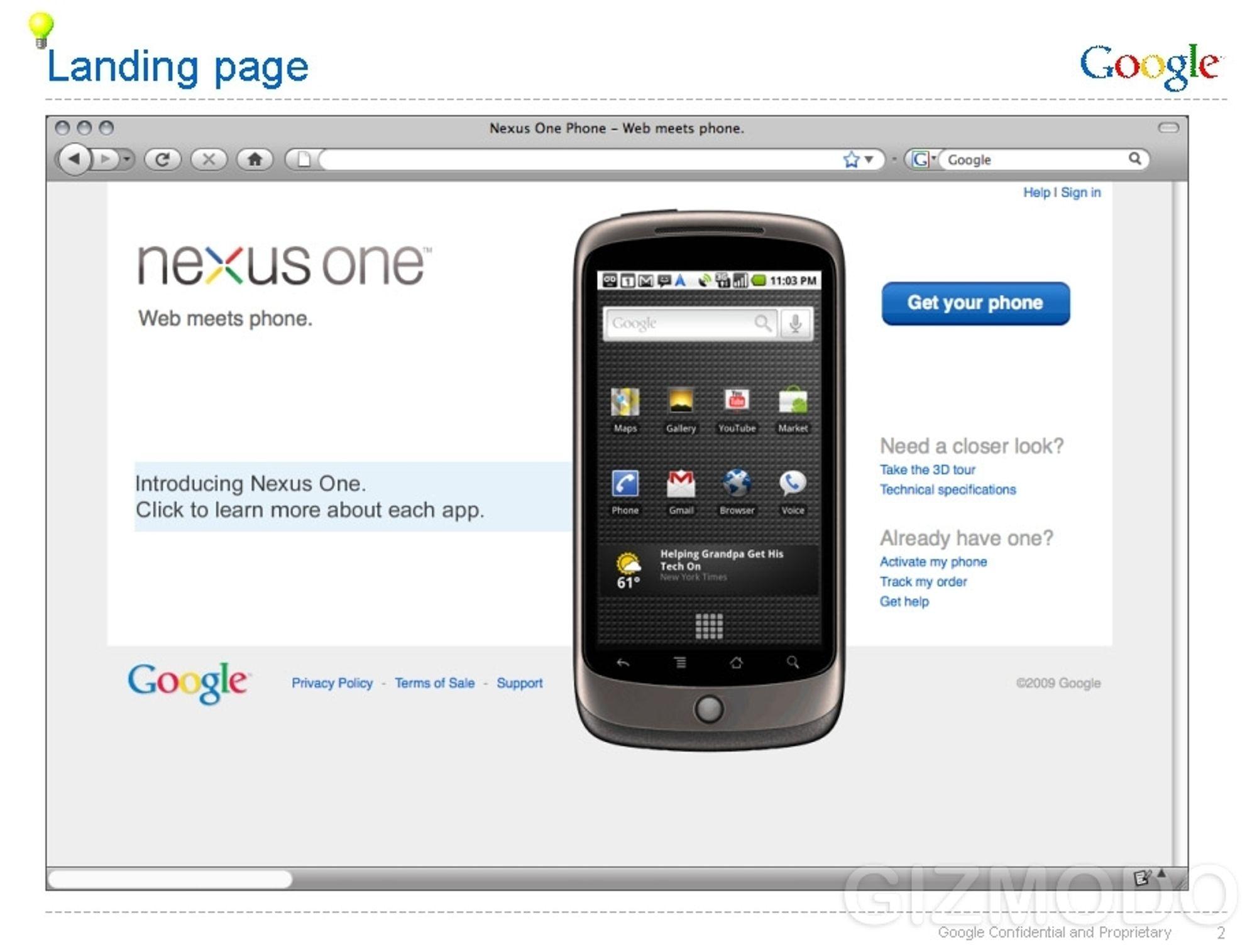 Google-telefonen. Hva er vitsen?
