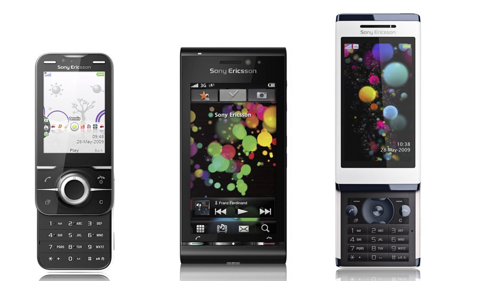Sony Ericsson oppdaterer Aino, Yari og Satio